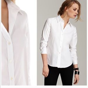 Theory Larissa Wales Fitted Button Up Top